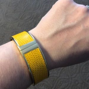 The Limited gold & yellow bangle bracelet